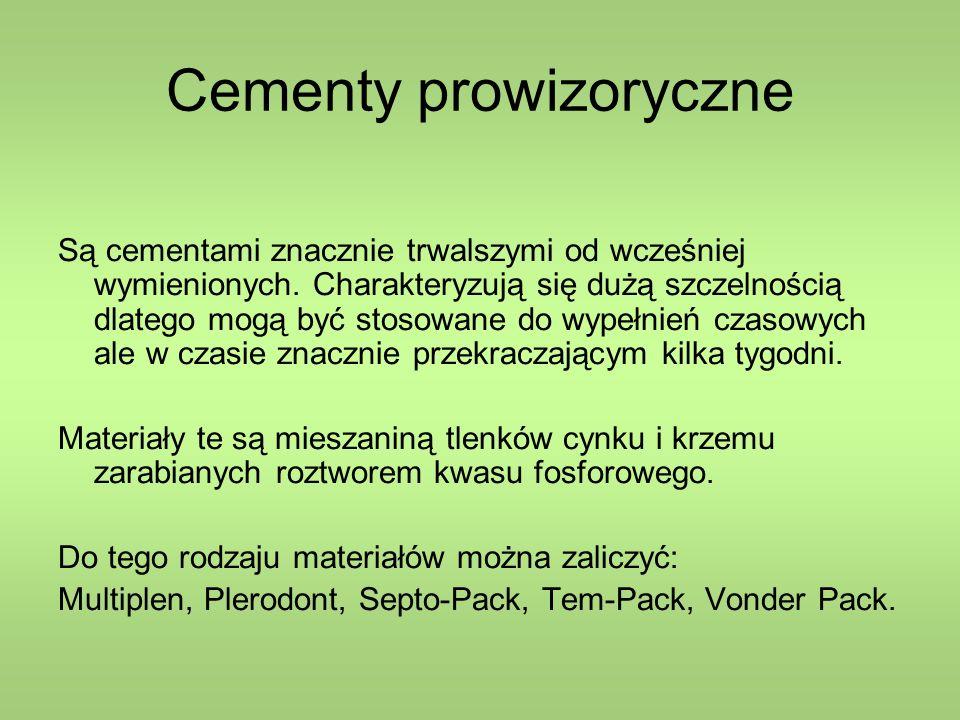 Cementy prowizoryczne
