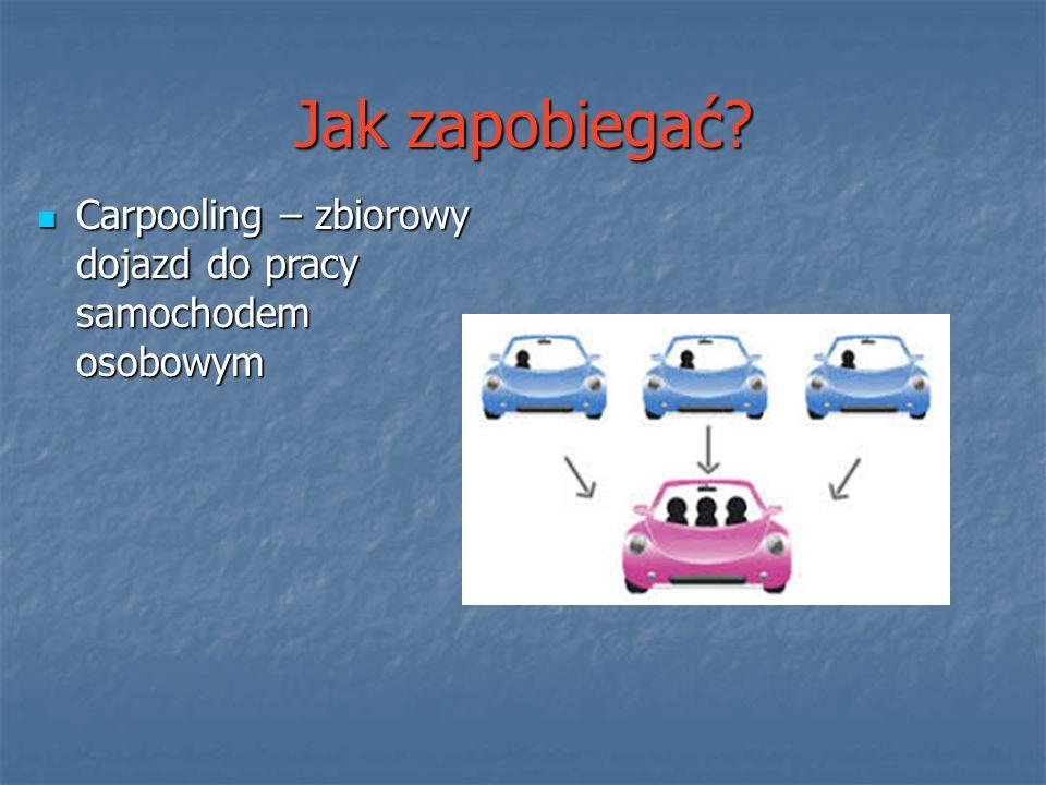Jak zapobiegać Carpooling – zbiorowy dojazd do pracy samochodem osobowym