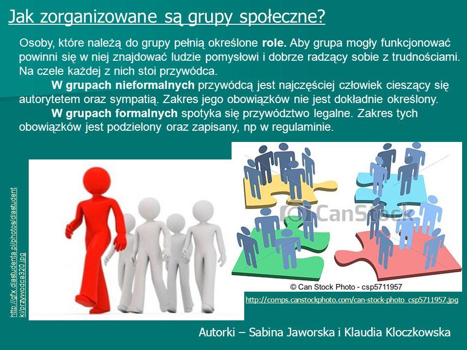 Jak zorganizowane są grupy społeczne