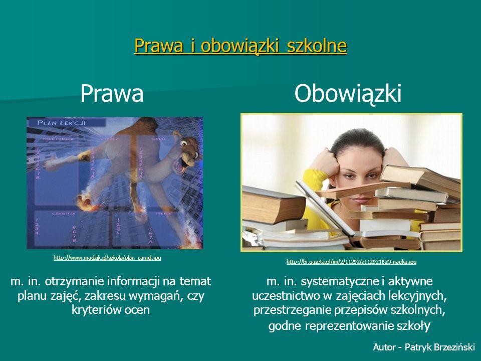 Prawa i obowiązki szkolne