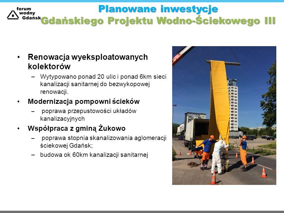 Planowane inwestycje Gdańskiego Projektu Wodno-Ściekowego III