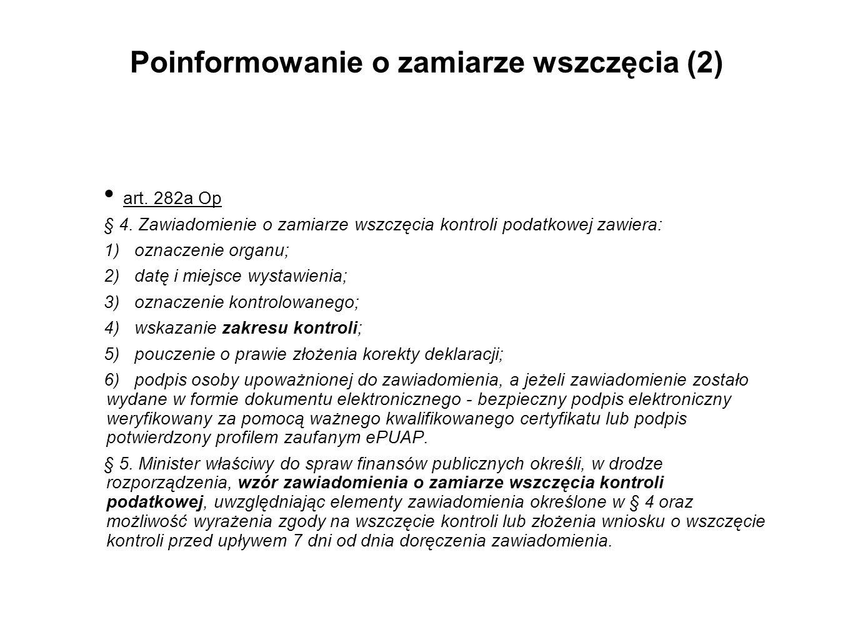 Poinformowanie o zamiarze wszczęcia (2)
