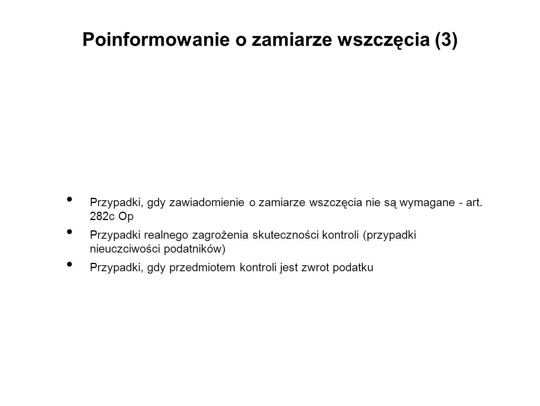 Poinformowanie o zamiarze wszczęcia (3)