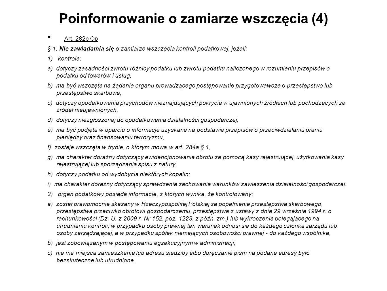 Poinformowanie o zamiarze wszczęcia (4)