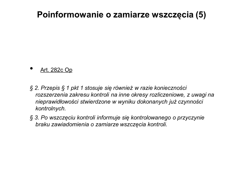 Poinformowanie o zamiarze wszczęcia (5)