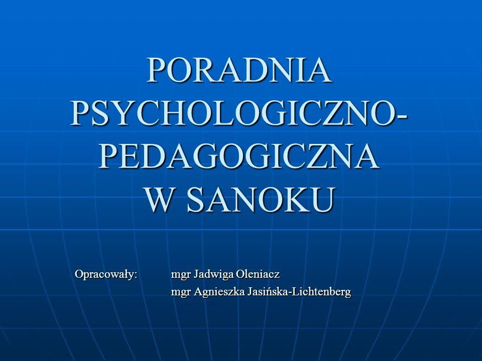 PORADNIA PSYCHOLOGICZNO-PEDAGOGICZNA W SANOKU