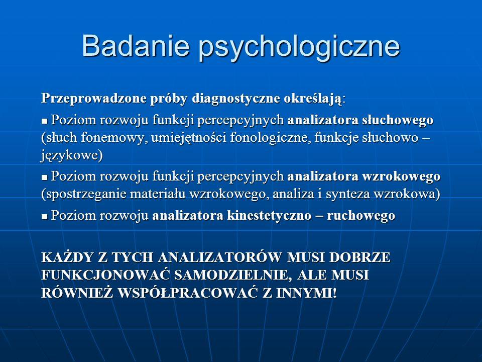 Badanie psychologiczne