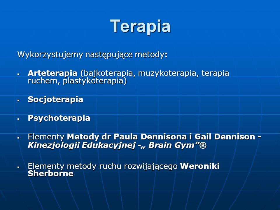 Terapia Wykorzystujemy następujące metody: