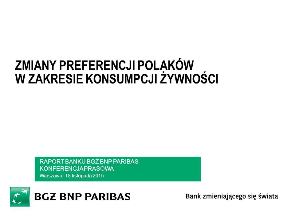 Zmiany Preferencji Polaków W zakresie konsumpcji żywności