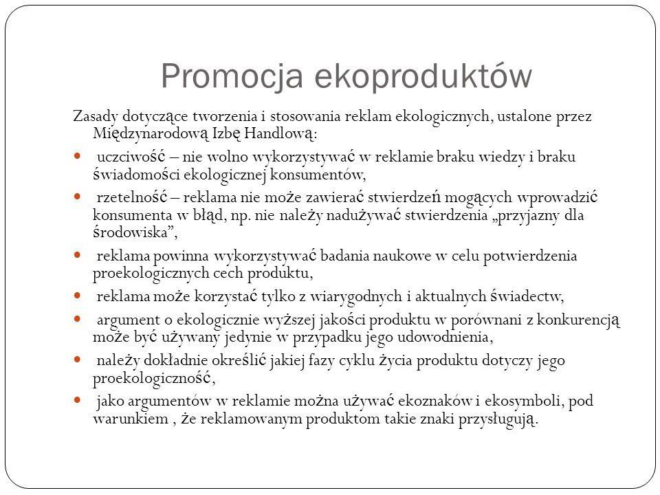 Promocja ekoproduktów