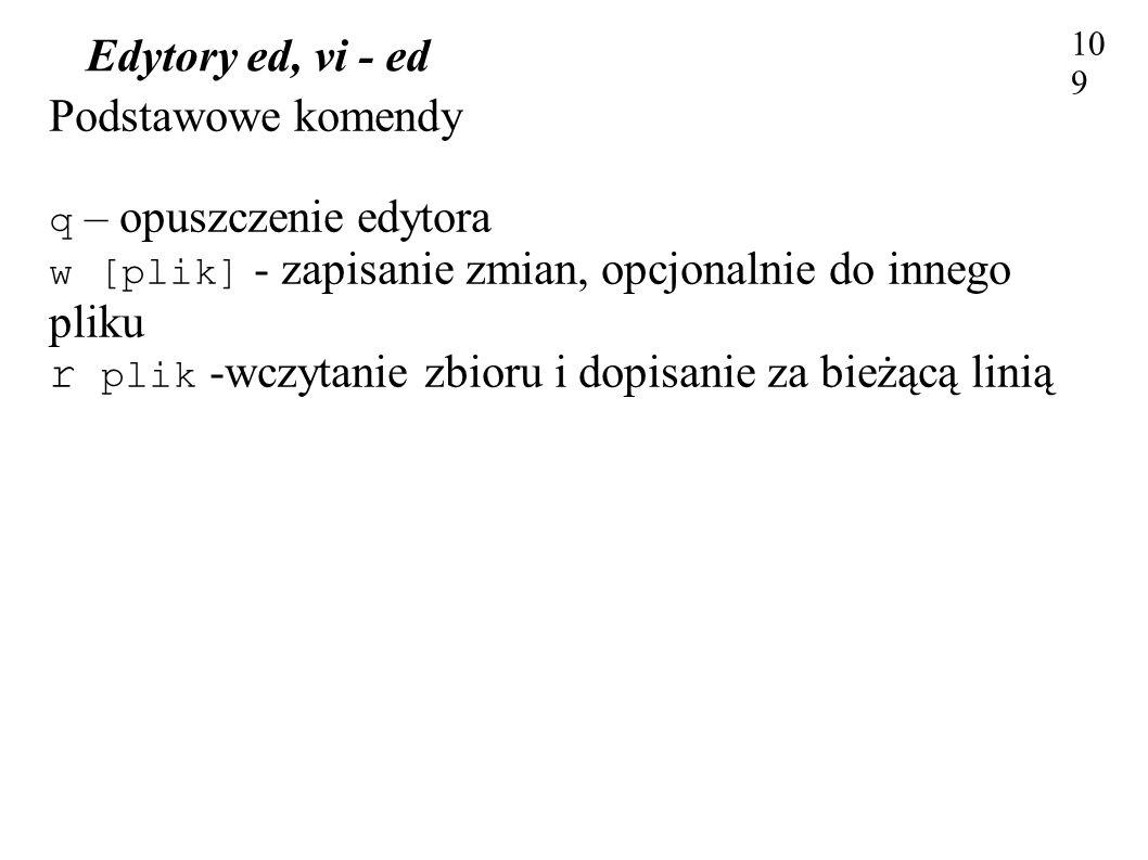 Edytory ed, vi - ed 109109.