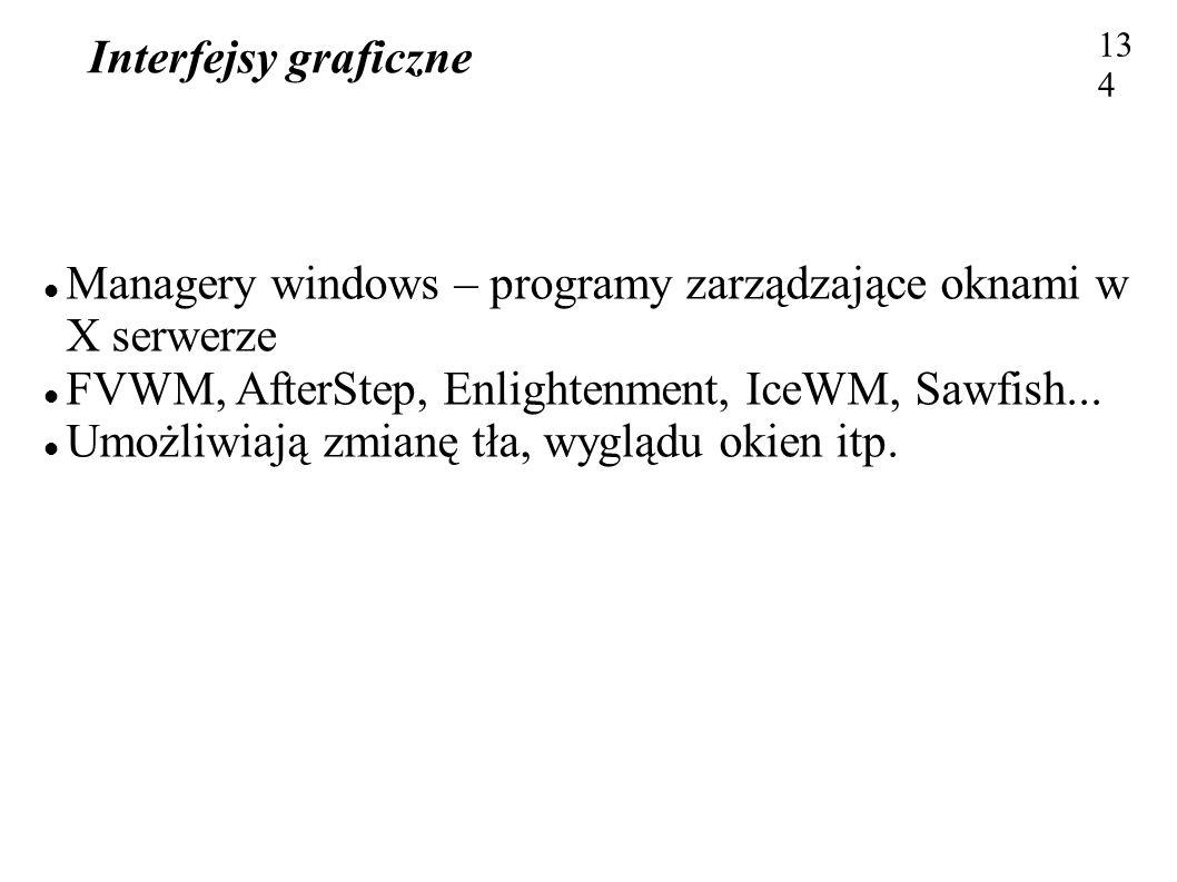 Managery windows – programy zarządzające oknami w X serwerze