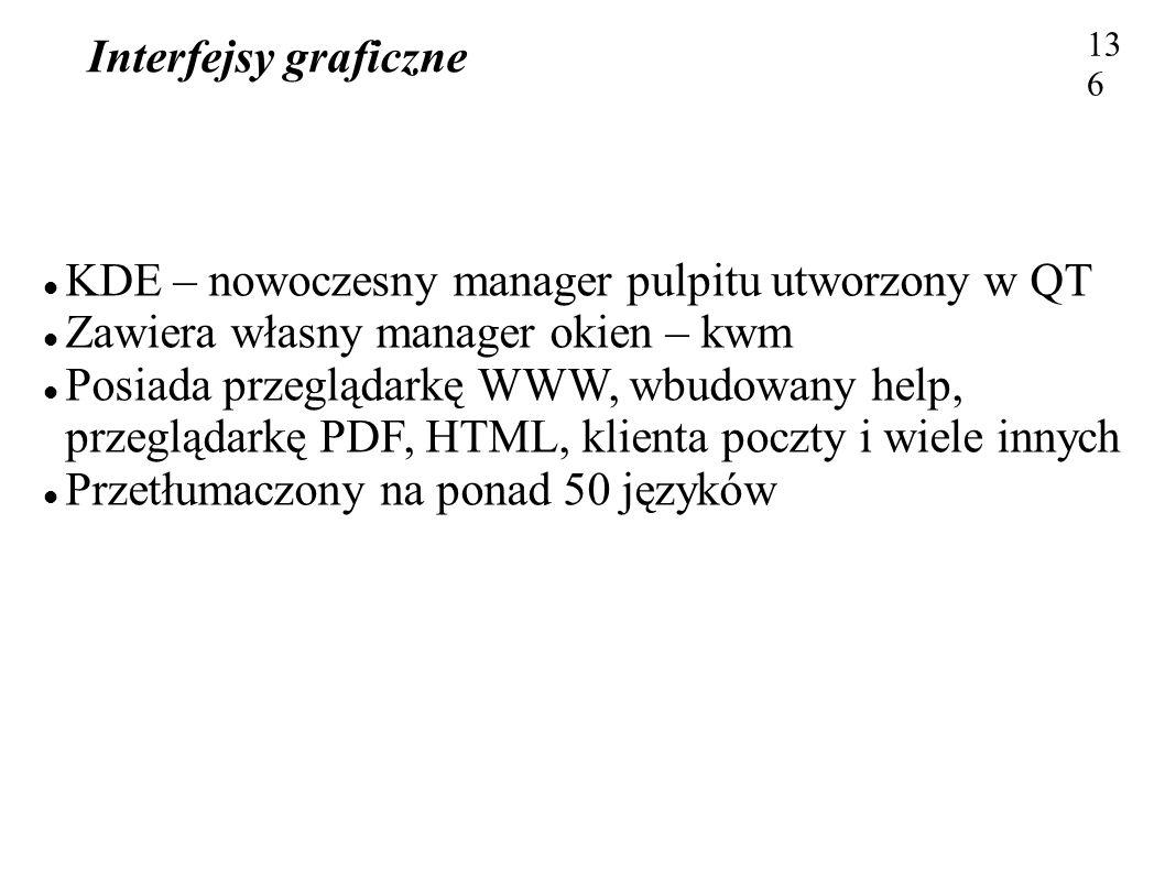 KDE – nowoczesny manager pulpitu utworzony w QT