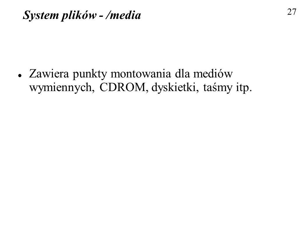 System plików - /media27.