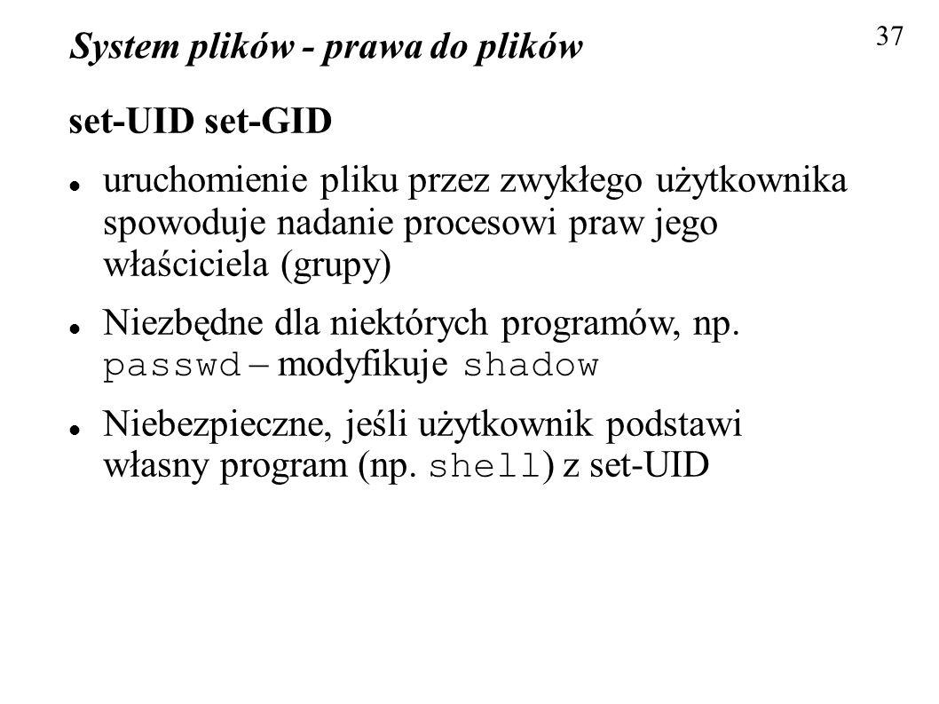System plików - prawa do plików