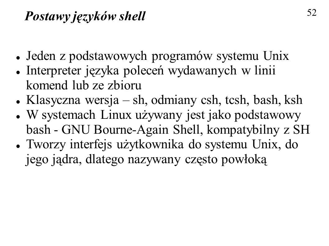 Jeden z podstawowych programów systemu Unix