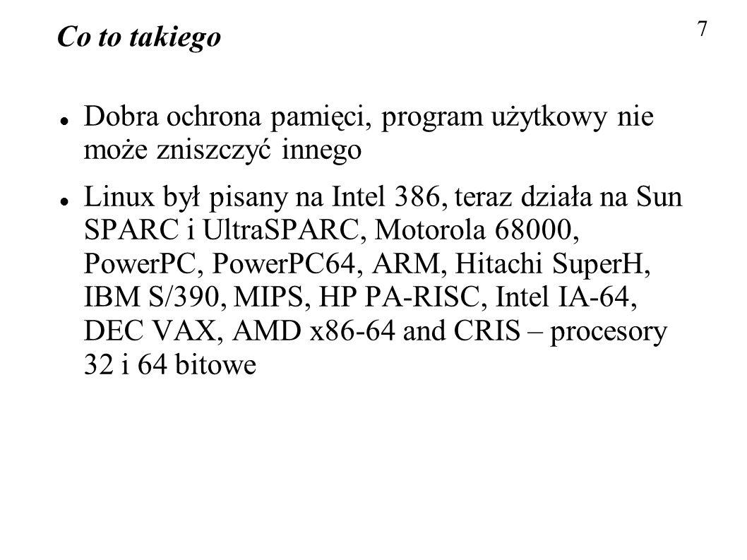 Dobra ochrona pamięci, program użytkowy nie może zniszczyć innego