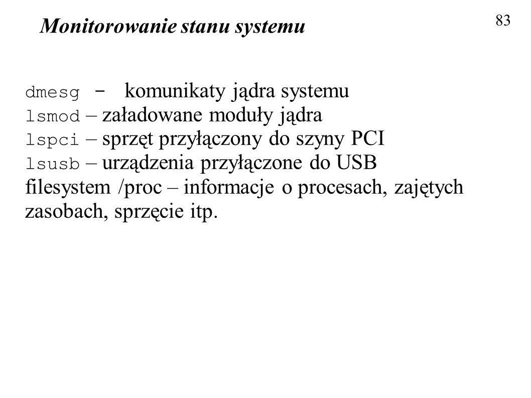 Monitorowanie stanu systemu
