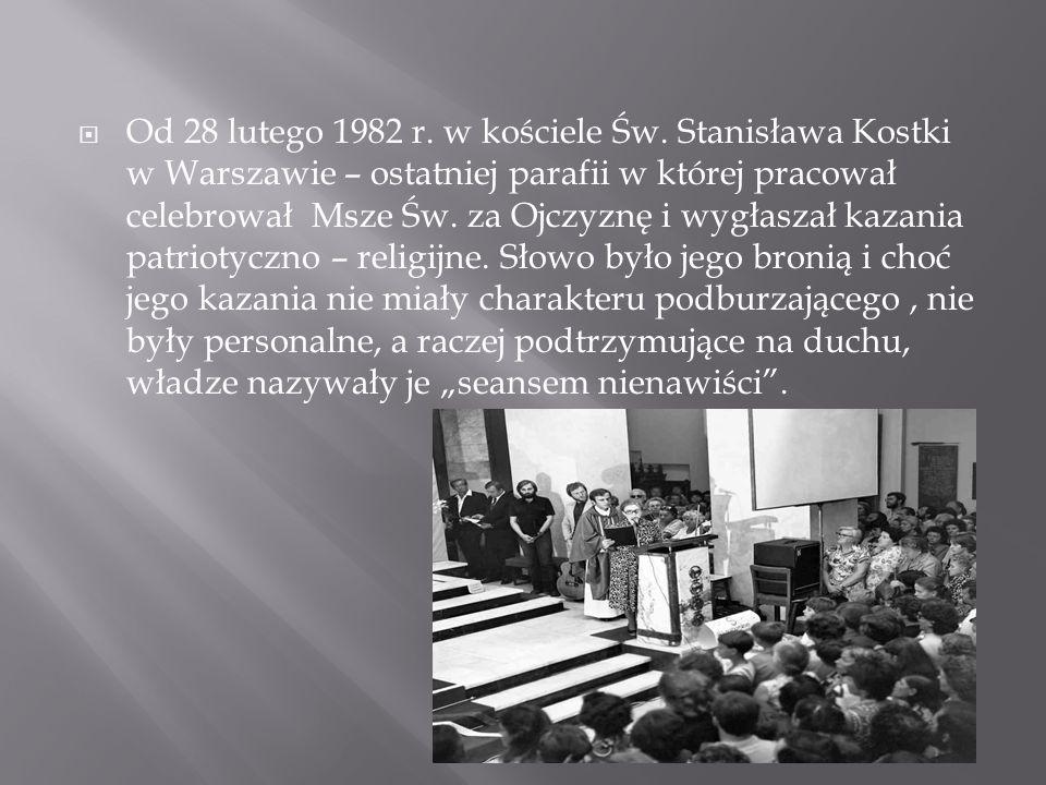 Od 28 lutego 1982 r. w kościele Św