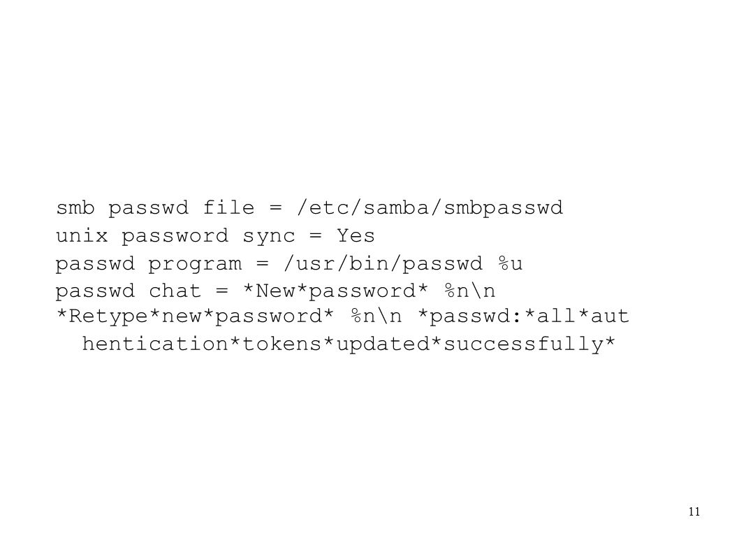 smb passwd file = /etc/samba/smbpasswd