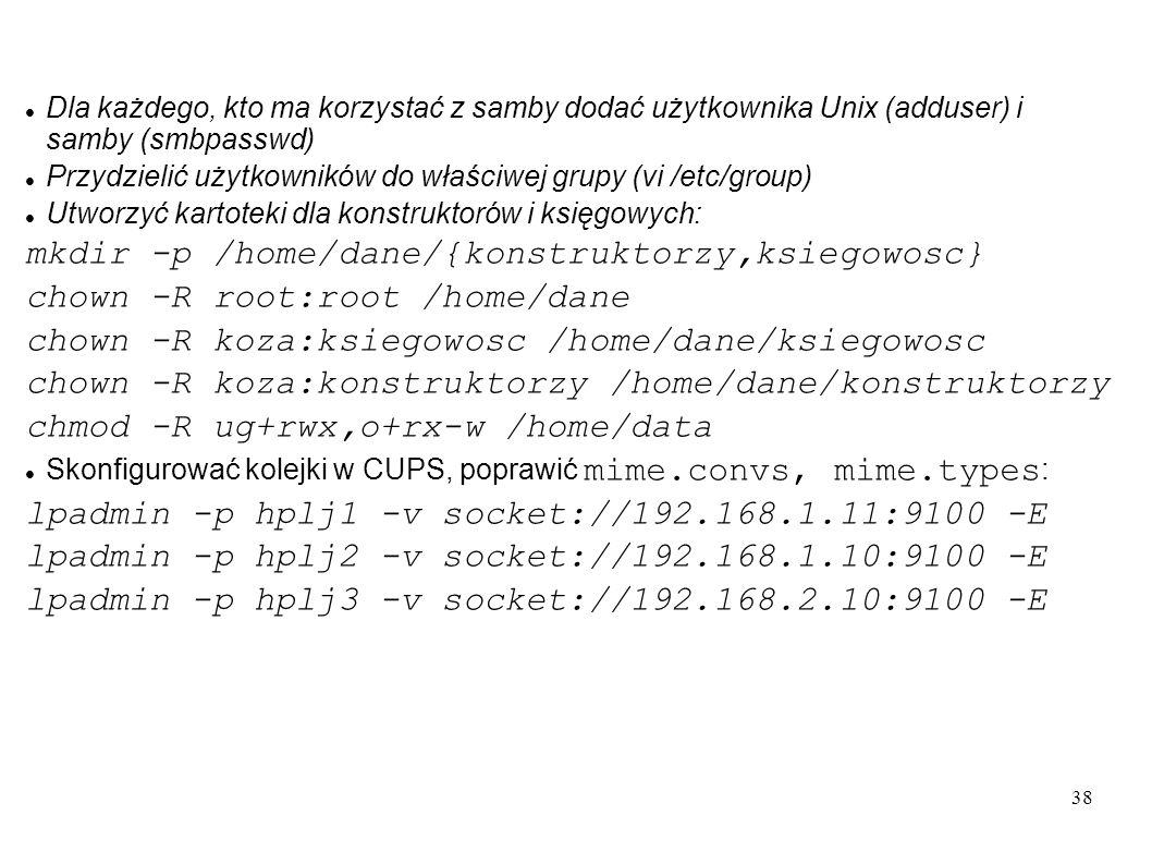 mkdir -p /home/dane/{konstruktorzy,ksiegowosc}