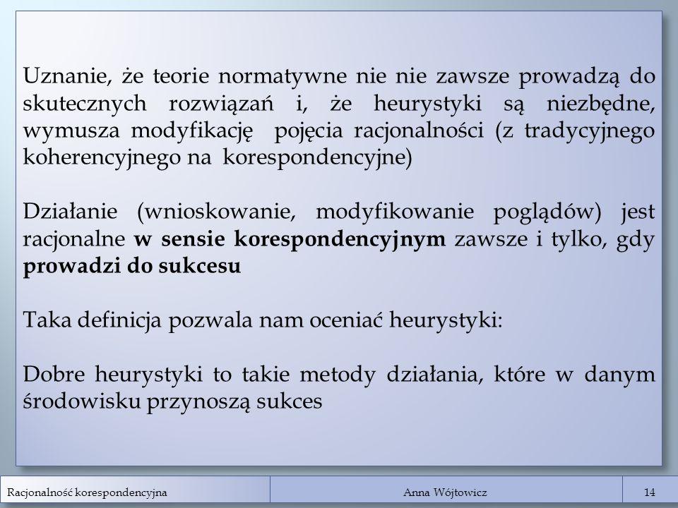 Taka definicja pozwala nam oceniać heurystyki: