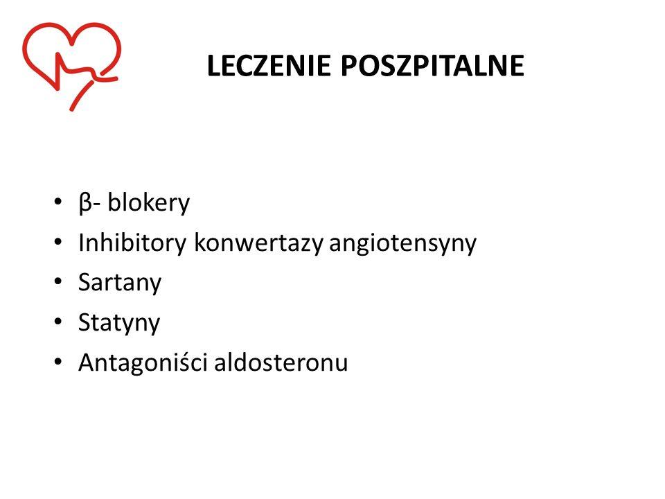 LECZENIE POSZPITALNE β- blokery Inhibitory konwertazy angiotensyny