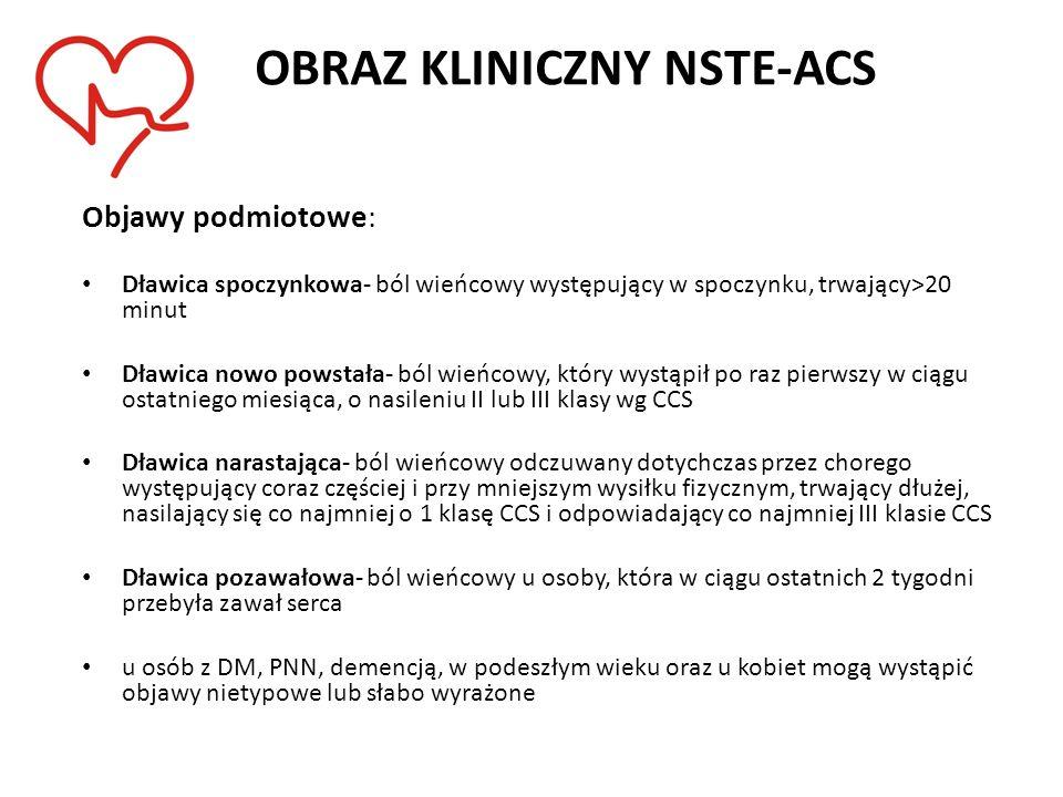 OBRAZ KLINICZNY NSTE-ACS