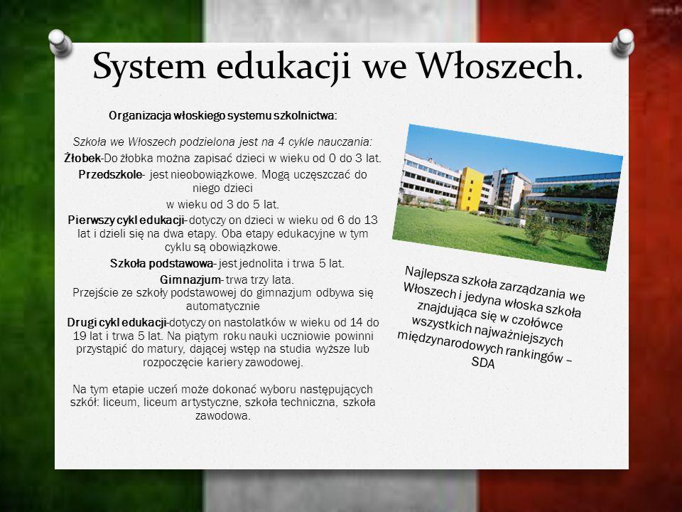 System edukacji we Włoszech.