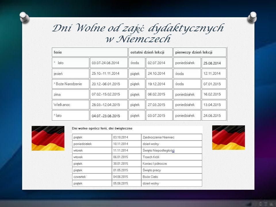 Dni Wolne od zajęć dydaktycznych w Niemczech