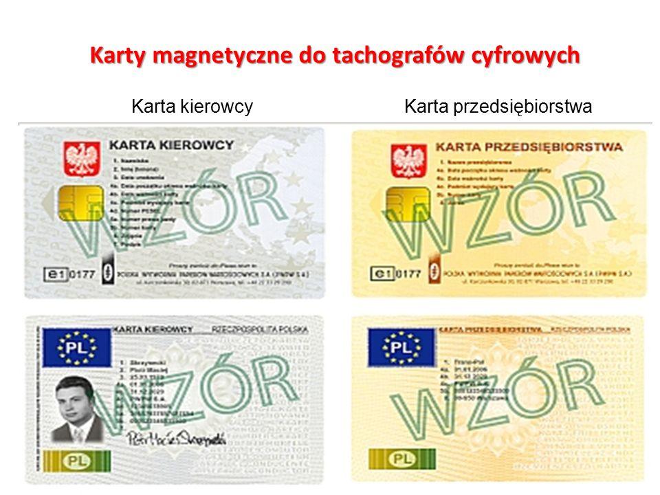 Karty magnetyczne do tachografów cyfrowych