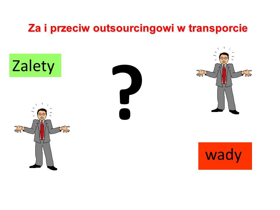 Za i przeciw outsourcingowi w transporcie