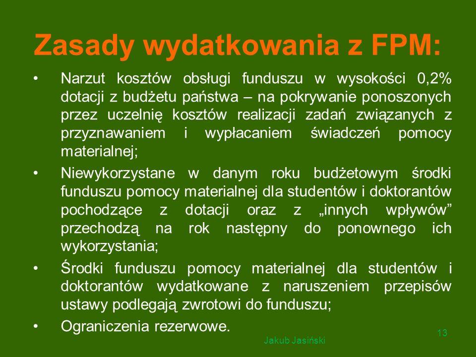 Zasady wydatkowania z FPM: