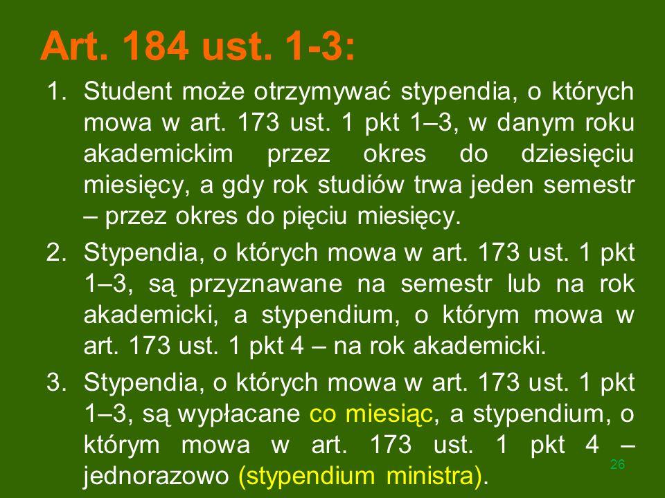 Art. 184 ust. 1-3: