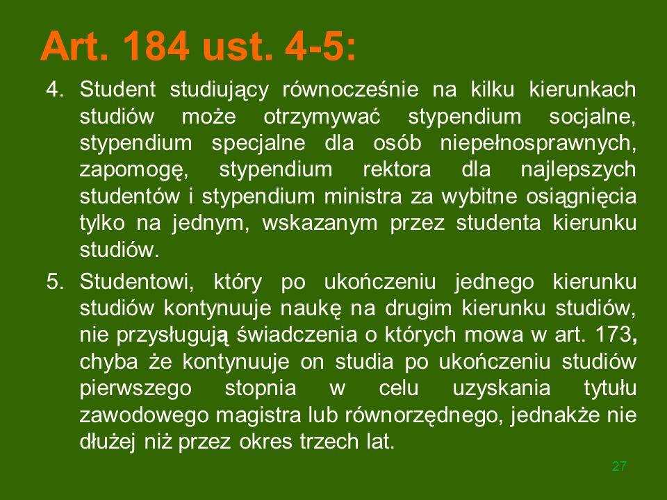 Art. 184 ust. 4-5: