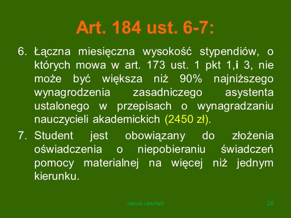 Art. 184 ust. 6-7: