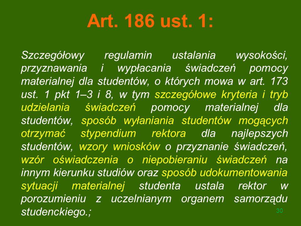 Art. 186 ust. 1:
