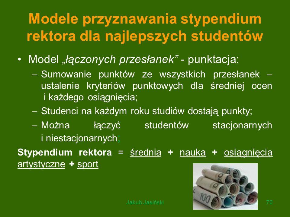 Modele przyznawania stypendium rektora dla najlepszych studentów