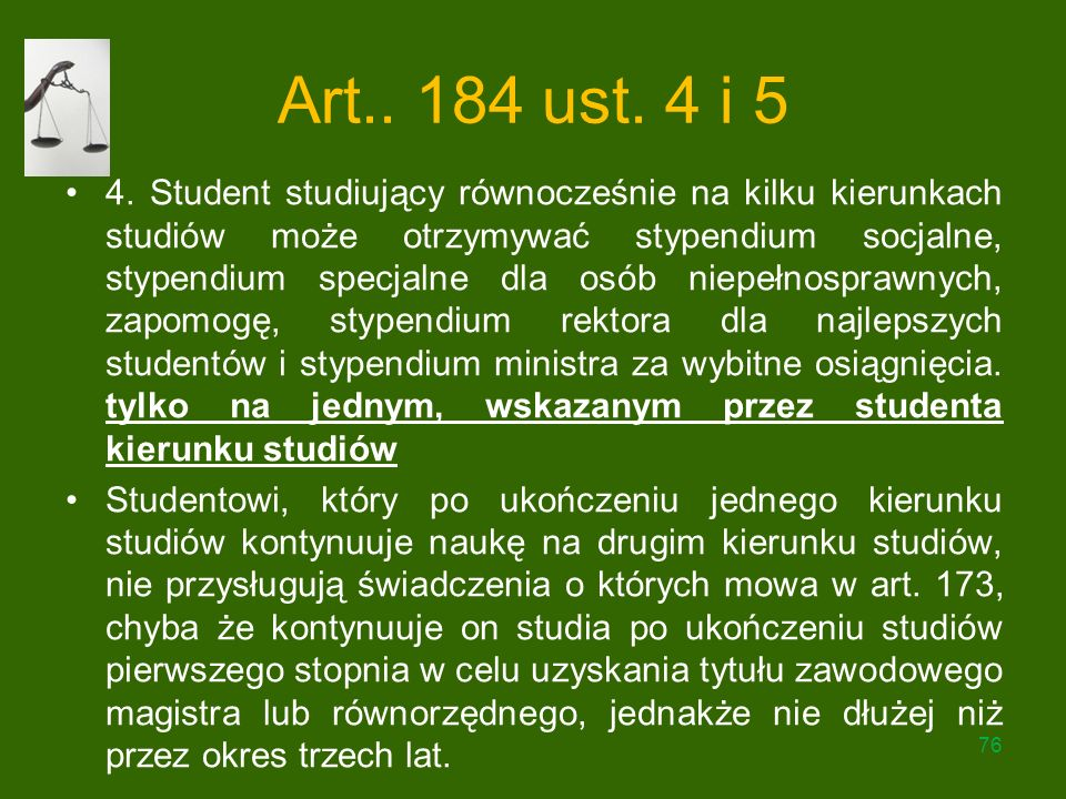 Art.. 184 ust. 4 i 5