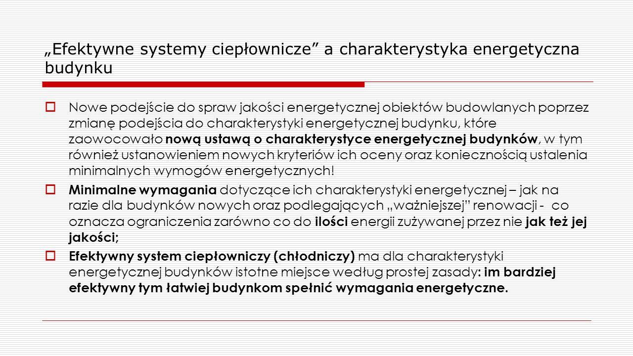 """""""Efektywne systemy ciepłownicze a charakterystyka energetyczna budynku"""