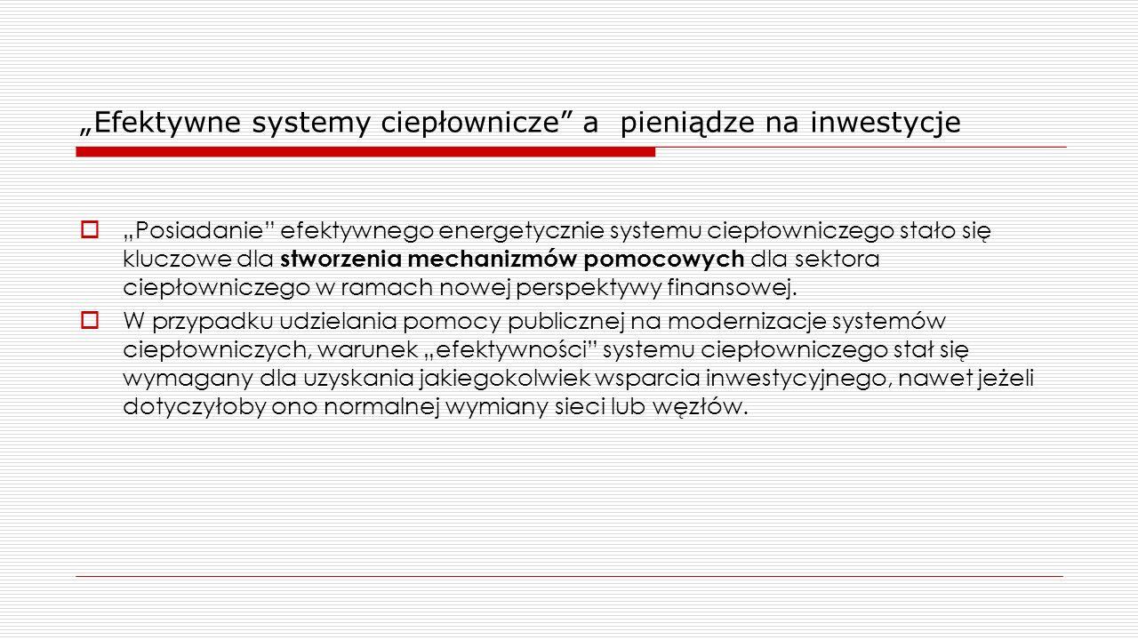 """""""Efektywne systemy ciepłownicze a pieniądze na inwestycje"""