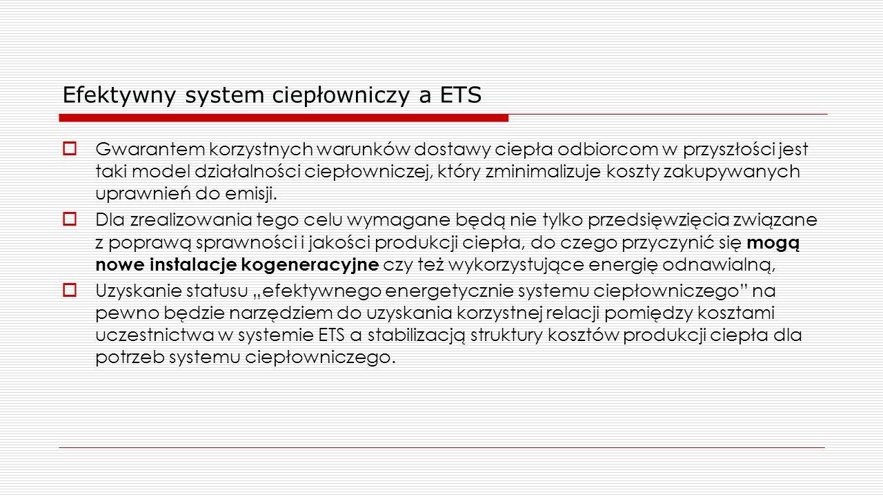 Efektywny system ciepłowniczy a ETS