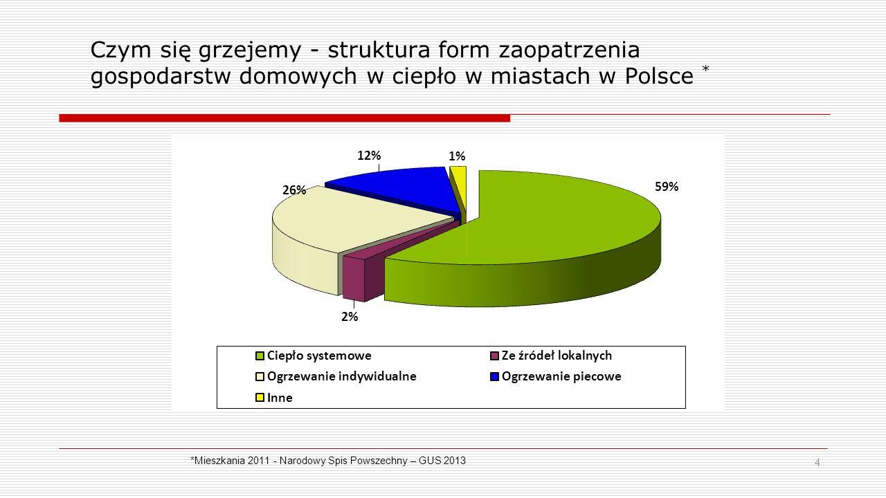Czym się grzejemy - struktura form zaopatrzenia gospodarstw domowych w ciepło w miastach w Polsce *