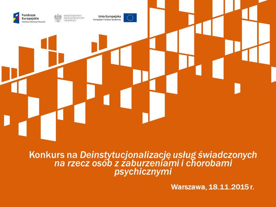 Konkurs na Deinstytucjonalizację usług świadczonych na rzecz osób z zaburzeniami i chorobami psychicznymi