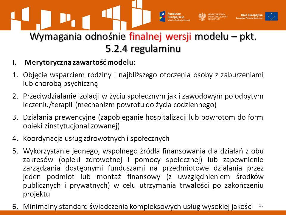 Wymagania odnośnie finalnej wersji modelu – pkt. 5.2.4 regulaminu