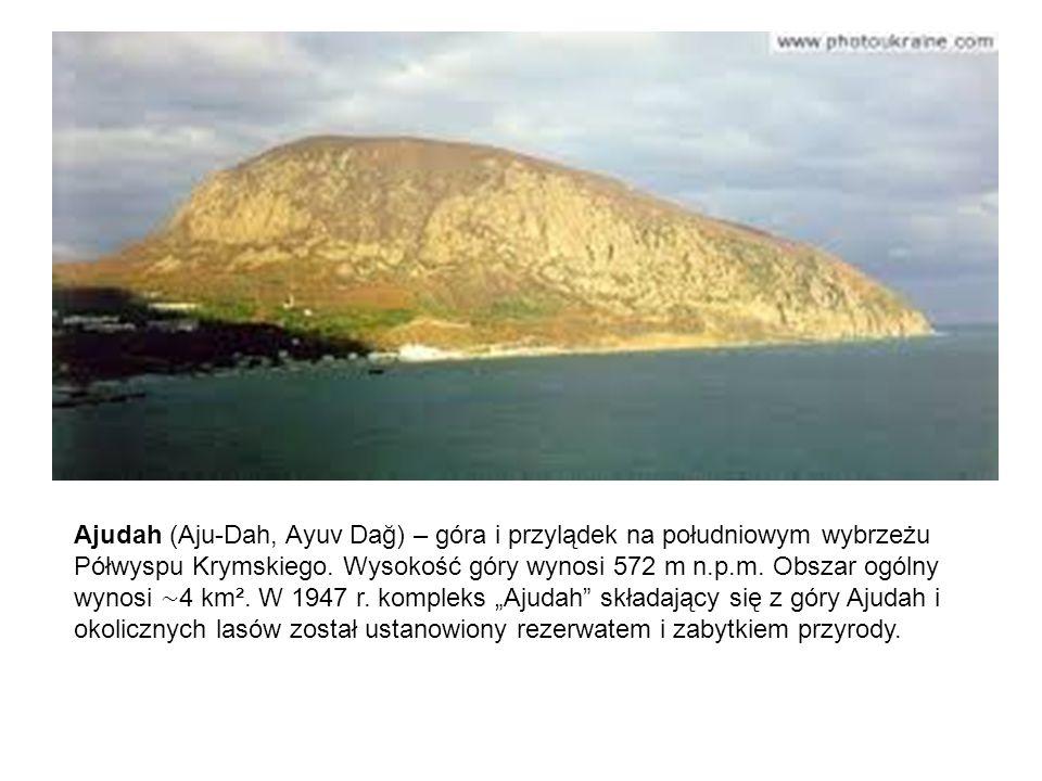 Ajudah (Aju-Dah, Ayuv Dağ) – góra i przylądek na południowym wybrzeżu Półwyspu Krymskiego.
