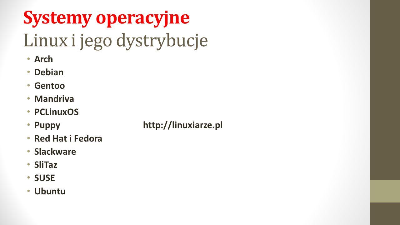 Systemy operacyjne Linux i jego dystrybucje