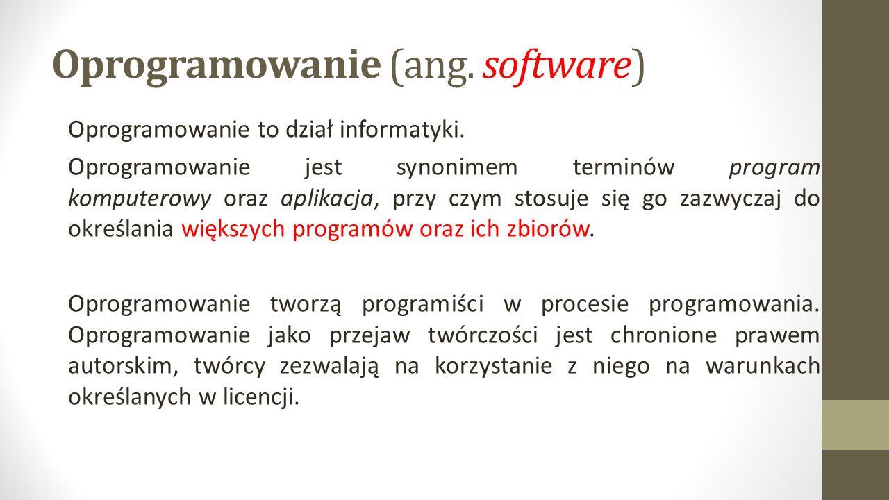 Oprogramowanie (ang. software)