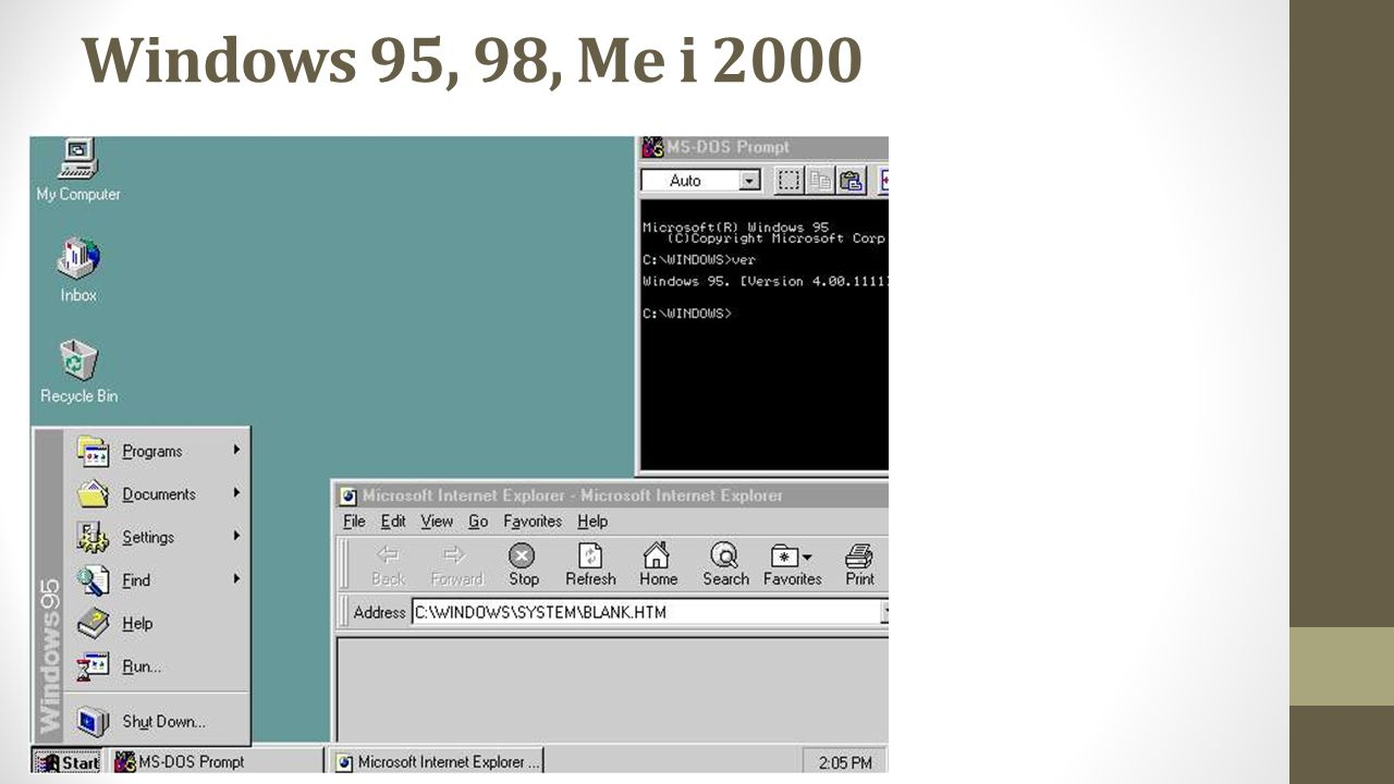 Windows 95, 98, Me i 2000