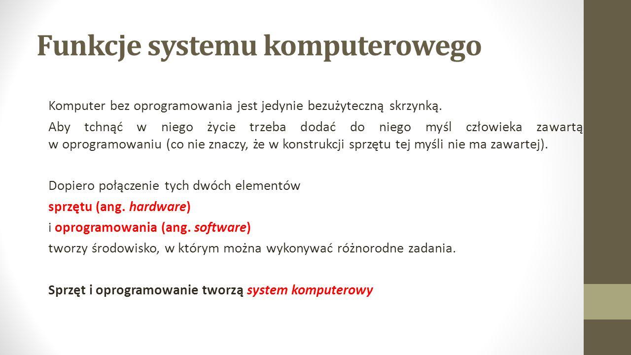 Funkcje systemu komputerowego